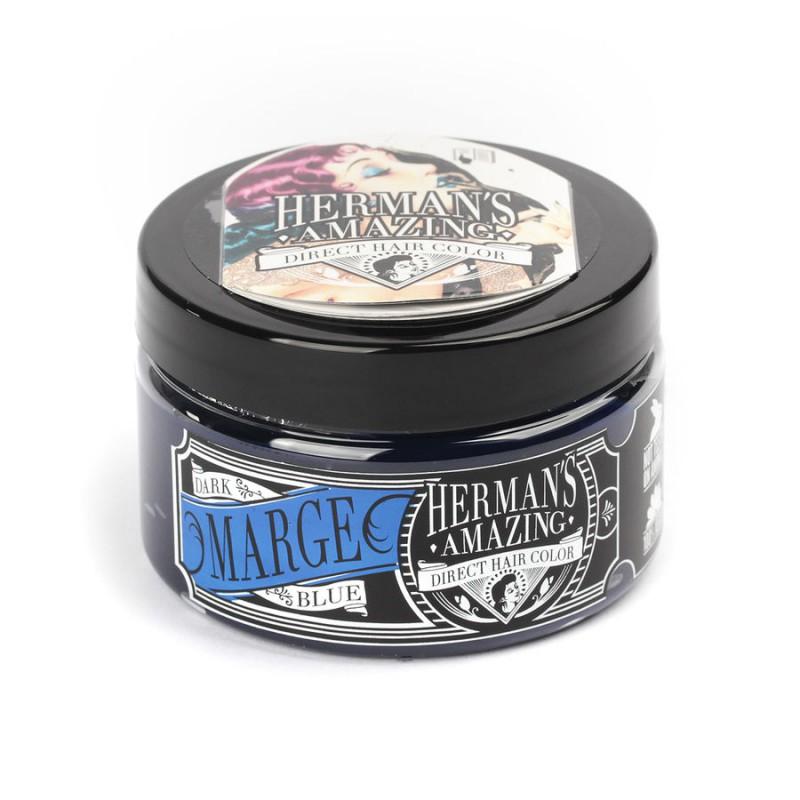 Голубые волосы - голубая краска для волос - Marge Blue - голубой цвет волос